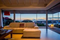 Casa Roc living sunset view