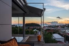 Casa Roc sofa sunset view