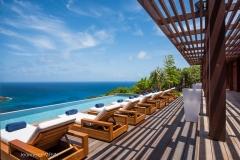 La Danse du Soleil terrace sunbeds pool